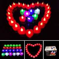 1PCS Battery Powered Led Light Candle Flameless Colorful Electronic Candle Party Wedding Decor