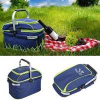 Trackman Camping Hiking 25L Picnic Basket Outdoor Portable Folding Handheld Large Food Storage Bags