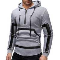 Men's Half Zipper Cotton Printing Hoodies