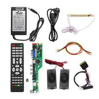 T.RD8503.03 Universal LCD LED TV Controller Driver Board +7 Key button+1ch 6bit 40Pins LVDS Cable+Speaker+EU Power Adapter