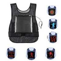 LED Advertising Night Light Vest APP Control 64*64 USB Waterproof Billboard Display