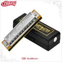 HUANG 108 10 Hole Blues Harmonica C Key
