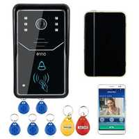 ENNIO ENNIO Touch Key Wifi DoorBell Wireless Video Door Phone Home Intercom System IR RFID Camera