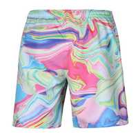 S52510 Beach Shorts Board Shorts 3D Magic Line Printing Fast Drying Waterproof Elasticity Peach Skin