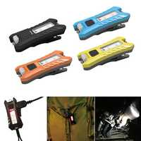 SUNREI Fun 40LM 6Modes USB Rechargeable KeyChain Light EDC LED Flashlight Black/Yellow/Orange/Blue