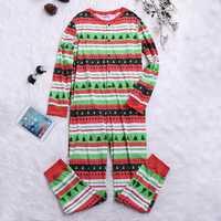 Mens Christmas Tree Striped Printing Cotton Sleepwear Pajama