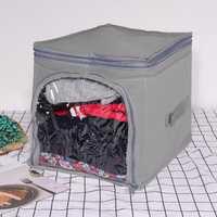 Charcoal Visible Clothing Storage Box Finishing Bags