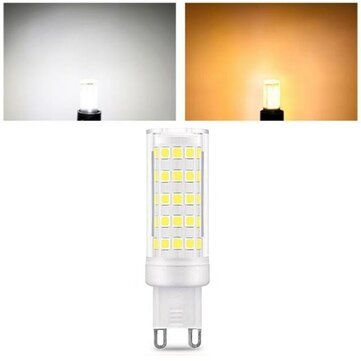 AC110 240V 9W G9 SMD2835 Non dimmable 75 LED Ceramic Corn Light Bulb for Outdoor Home Decoration