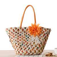 Women Summer Beach Bag Straw Bag Handbag