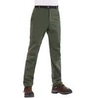 Mens Thick Warm Pants Outdoor Climbing Hiking Waterproof Quick Drying Trousers