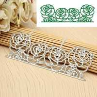 Rose Flower Cutting Dies Stencil Scrapbook Card Album Paper Embossing Handicraft