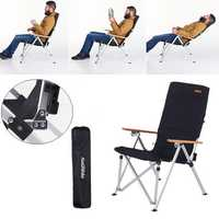 Naturehike Outdoor Camping Aluminum Folding Chair Max Load 120KG for Fishing Picnic BBQ