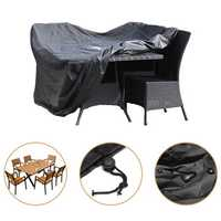 420D Rattan Rectangular Cube 6 Seater Furniture Waterproof Cover Four With Windproof Buckle