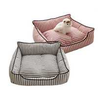 2 Colors Stripe Pattern Pet Sofa Bed Mat Dog Cat Sofa Kennel Pet Bed