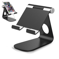 Universal Aluminum Alloy Anti-Slip Portable Support Tablet Stand Holder for iPad Air Mini iPhone