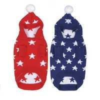 Christmas Star Winter Warm Sweater For Pet Dog Cat Hoodie Pappy Jumpsuits With Hat