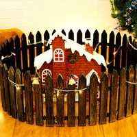Christmas Decorations Tan Pointed Plastic Decorative Fences