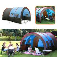 Xmund XD-ET4 Camping Tent 8-10 People Waterproof Double Layer Large Family Tent Canopy Sunshade