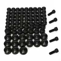 75pcs Bolt Screw Toppers Cover Caps For Harley Davidson Dyna Softail Twin Cam