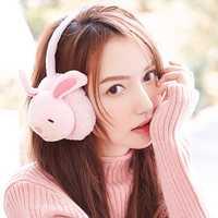Women Cute Rabbit Pig Pattern Warm Earmuffs Plush Ear Warmer