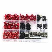 CNC Alloy Motorcycle Complete Fairing Bolt Bodywork Screws Nuts Kit For Kawasaki Red