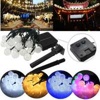 4.8M 20 LED Waterproof Solar Ball Fairy String Light Christmas Wedding Party Garden Decor