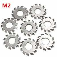 Module 2 Diameter 22mm 20degree #1-8 HSS Involute Gear Milling Cutter