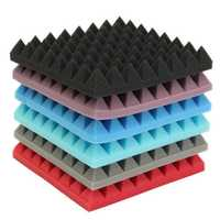 Sound Absorbing Cotton Acoustic Foam Pyramid Tiles for Studio Sound Room Music