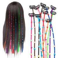 55cm Colourful Diamond Synthetic Fiber Hair Braid Extensions