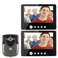 SY905FC12 Video Door Phone Doorbell Intercom Kit 900TVL IR Night Vision 1-Camera 9 Inch TFT LCD 2-Monitor