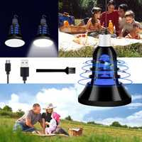 ARILUX® USB 8W Two Modes White+UV Purple LED Mosquito Insect Trap Killer Night Light Bulb DC5V