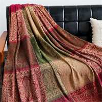 Cotton Woven Sofa Bed Throw Blankets Bedspread Settee Covers Rugs Non-slip Pads Carpets Sofa Covers