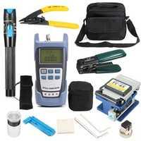 LiteArk TK16 12-IN-1 Fiber Optic FTTH Tool Kit Power Meter FC-6S Fiber Cleaver