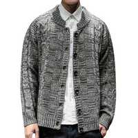 Mens Casual Vintage Knit Loose Breathable Cardigans