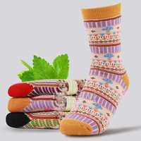 Womens Cotton Mushrooms Breathable Short Sock