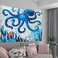 Large Octopus High Density Tapestry Wall Hanging Mandala Hippie Bedspread Throw