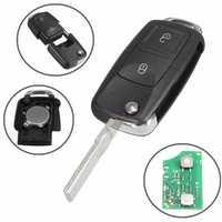 Car 433MHz ID48 Chips 2 BTN Remote Key Alarm Fob Flip Uncut for VW 1J0 959 753 AG