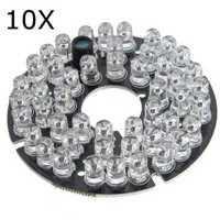 10Pcs 48 LED IR Infrared Illuminator Bulb Board For CCTV Security Camera