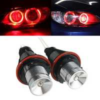 Pair Red Angel Eyes LED Lights Ring Marker Xenon HID for BMW E39 E60 E53 E65