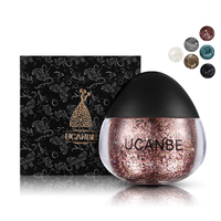 UCANBE Glitter Highlight Cream Metallic Diamond Mermaid Eye Shadow Gel Sparkling Eye Makeup Cosmetic