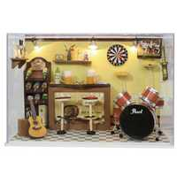 Cuteroom DIY Doll House Handmade Wooden Miniature Home Decoration Furniture Bar
