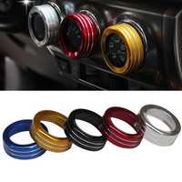 3pcs/Set Cars Alu Decoration Stereo Air Conditioning Knob Ring for Toyota YARiS L 14-15 New Vios