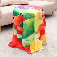 Honana WX-89 147cm 3D Simulation Rose Beach Mat Romantic Women Shawl Scarf Bed Sheet Tablecloth Home Tapestry