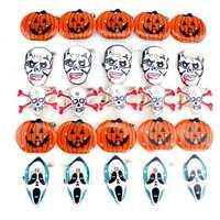 Halloween LED Flashing Light Brooch Pumpkin Toys Party Supplies
