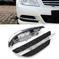2Pcs LED Daytime Running Lights DRL Fog Lamp for Benz W204 C-Class 11-13