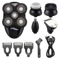 5 In1 4D Rechargeable Shaver Razor Cordless Hair Clipper