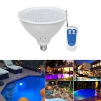 40W E27 RGB LED Remote Swimming Pool Light Waterproof Fountain Bulb Lamp AC12V