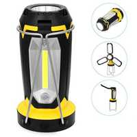 MX-8801 LED+COB 5Lights 8Modes USB Rechargeable Unfold Light Maintenance light Outdoor Camping Lamp LED Flashlight