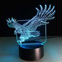 Fly Eagle USB 3D LED Lights Colorful Touch Night Light Christmas Gift