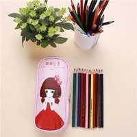 Princess Pencil Case Pen Bag Pocket Makeup Bag Cosmetic Pen Storage Box Pouch